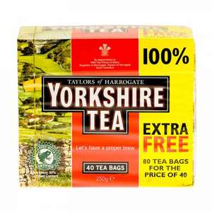 Yorkshire Tea - 80 teabags for £1 in Spar