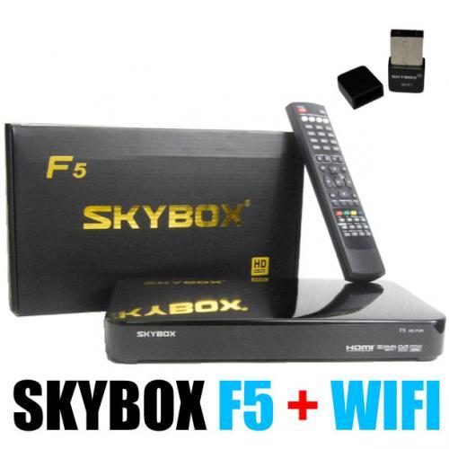 BUNDLE SKYBOX F5 + OFFICIAL WIFI USB + HDMI (REPLACE F3 M3 F4 X3 X4) Ebay (azurill_uk) £50.99