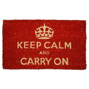 Keep Calm and Carry On doormat at Past Times (was £15) now £3.75 + £3.50 delivery