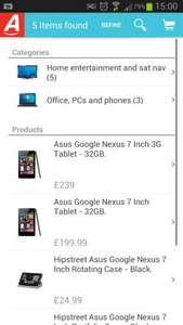 Nexus 7 32gb wifi + 3g £239 at Argos