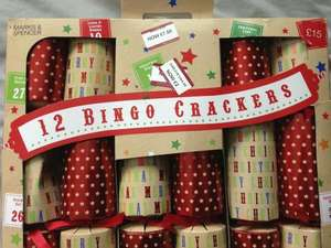 12 M&S Bingo Crackers. Was £15, now just £2. Instore