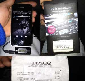 Tesco In Car FM Transmitter for iPhone/iPod (including charger) £1.00 instore