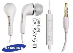 Genuine Samsung Handsfree Headphones Earphones i9300 S3 Galaxy Ace Plus S2 i9100 -  £3.20 @ Ebay / cititech-uk