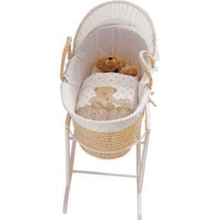 Sleepy Teddy Baby Moses Basket @ Argos - £18.99