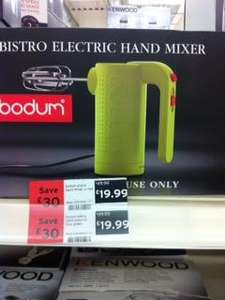 Bodum hand mixer £19.99 reduced from £49.99 instore at Sainsburys