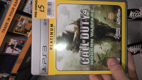 Call of duty 4 Modern Warfare preowned £5 PS3 @ Asda instore