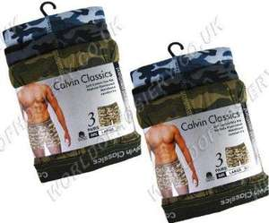 Calvin Classics Mens Camo Cotton Boxer Shorts - 3 Pack £5.90 at amazon fufilled by  mailboxsocks
