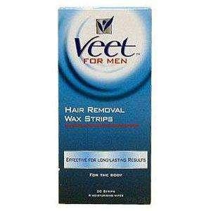 Veet For Men Hair Removing Wax Strips Wax Strips 20 strips + 4 moisturising wipes Only £2.99 Delivered at Amazon UK / O.P HEALTHCARE