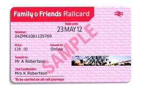 Friends and Family Rail Card (one year)