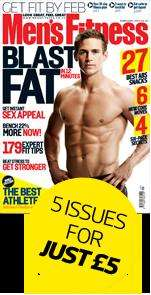 £5 for your first 5 issues of Men's Fitness UK (includes free t-shirt)