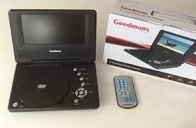"""7"""" GOODMANS Portable DVD Player @ £29.95 DivX Playback @ richersounds RRP £59.95"""