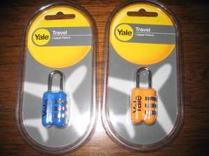 Yale Luggage / Locker Metal Combination Lock in Various Colour - 0.59 p @ Home Bargains instore