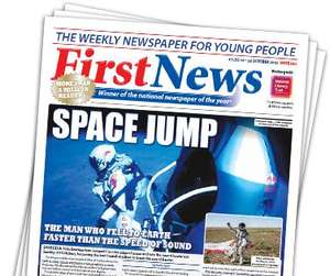 Free copy of kids newspaper called 'The First News'