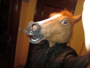 Horse Head Latex Mask - Amazon Marketplace (I Love Fancy Dress) - Only £11.77 delivered!