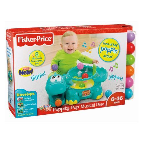 Fisher-Price Go Baby Go Poppity Pop Musical Dino now £18.69 del @ Amazon