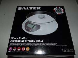 Salter Glass Platform Kitchen Scales £3 @ Sainsburys