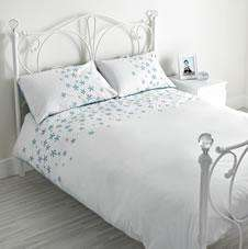 Seed Head Duvet Set Teal/White Kingsize £19.00 @ Wilkinson