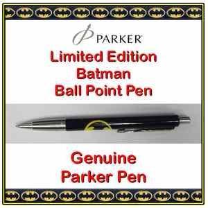 NEW LIMITED EDITION BATMAN PARKER PEN BALLPOINT BLUE INK @ EBAY /UKONLINELAPTOPS £1.98 DELIVERED