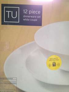 TU 12 piece dinnerware set white coupe @ Sainsbury's for £10.50