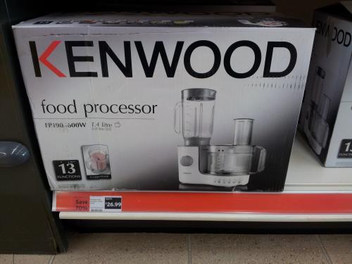 Kenwood FP190 Food Processor at Sainsburys 70% Off Now £26.99