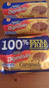 McVities Digestive Caramels 300g 100% Free Instore Home Bargains £1.29