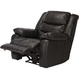 Power Massage Leather Recliner Chair - Black WAS £399.99 NOW £328.94 @ Homebase using code WEB20, dont forget 3% Quidco, possibly making it £319.04 Delivered