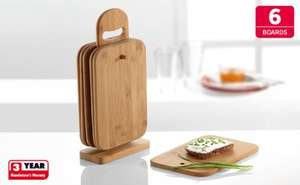 Set of 6 Wooden Chopping Boards £4.99 @ Lidl