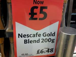Nescafe Gold Blend/ Gold Crema Coffee 200g - £5.00 at Morrisons
