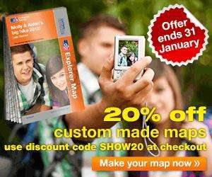 Personalised OS Map £13.59 delivered by Ordnance Survey plus pos extra £1.50 off via Quidco