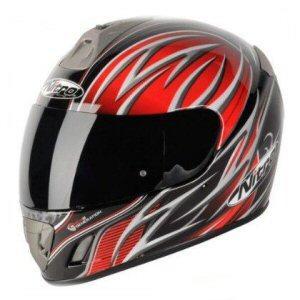 Nitro NGFP TALISMAN Motorcycle Polytech ACU Gold Full Face Crash Helmet Black Red Gun @ 2WHEELDUNKIE @ £34.99