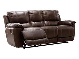 Harveys Leather Sofa (Oberon express) 3 seater with 2 manual recliner actions