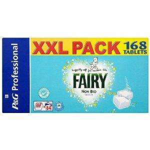 Fairy Non Bio laundry tablets - 168 tablets/84 washes £19.99 delivered from Amazon