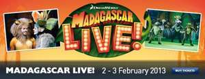 Kids Go free to madagascar live capital fm arena Nottingham adult prices from £20