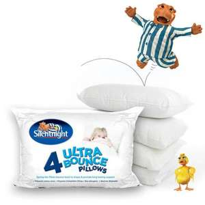 Silentnight Ultrabounce Pillow 4 Pack, £12.99 @ uk-bedding eBay seller, Free Delivery