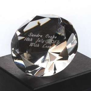 Personalised Crystal Paperweight was £21.99 now £11 (50% Off) plus £2.95 Postage The Personalised Gift Shop