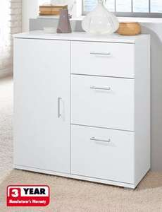 Height-adjustable shelf and 3 drawers cupboard with metal rails £39.99 @ Lidl