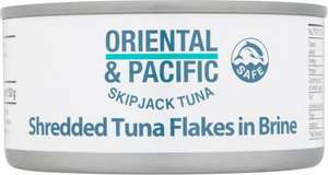 4xcan pack of oriental & pacific TUNA £3 @TESCO, better than half price