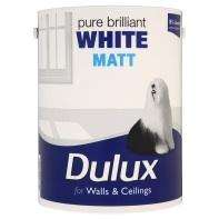 Asda Dulux matt white paint 5L £10