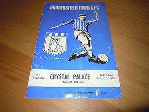 Huddersfield v Crystal Palace - £10 adults, £5 under 16's