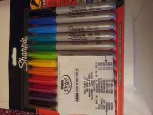Sharpie Pens 12 pack £3.00 at Asda instore