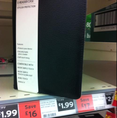 Black leather e-reader case (kindle, nook ) - £1.99 instore @ Sainsburys