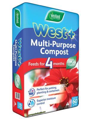 West+ Multi Purpose Compost 60l bag £3.00 @ The Garden Centre Group (Instore)