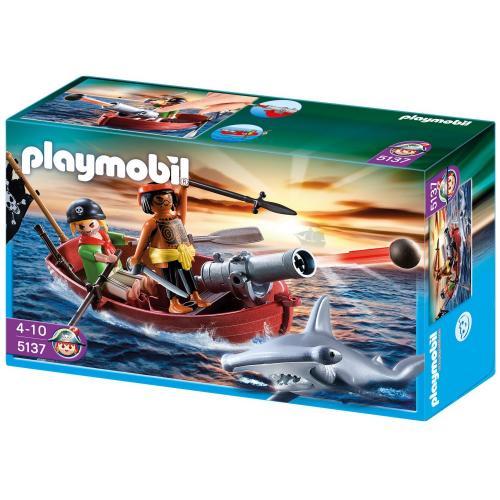 Playmobil 5137 Pirates Rowboat with Shark £7.99 @ Amazon