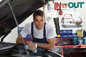 Car MOT and Express Valet for £20 at IN'n'OUT via  Groupon