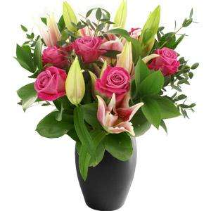 Rose and Lily Bouquet was £34.90 now £12.80 (with code + cashback) @ iFlorist