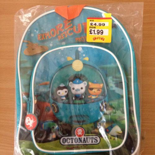 Kids Octonauts rucksack £1.99 @ Smyths Toys instore