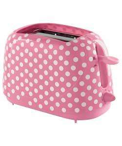 Pretty pink polka dot  toaster £6.99 at Argos was £29.99