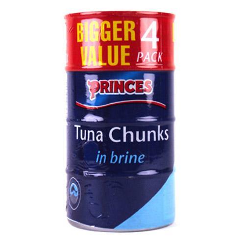 Princes Tuna Chunks in Brine 4 x 185g £3 at Co-op