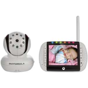 The best video baby monitor - Motorola MBP36 Remote Wireless Video Baby Monitor with Infrared Night Vision and Zoom was £159.99 now only  £89.63 @ Amazon with Family member voucher