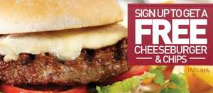 Free Cheeseburger and Chips with any drink purchased @ Yates's